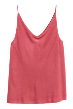 V-neck strappy top - Raspberry red - Ladies | H&M IE 1