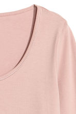 Pima cotton jersey top - Old rose - Ladies | H&M IE 2