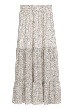 Patterned maxi skirt - Nat. white/Spotted - Ladies | H&M CN 2