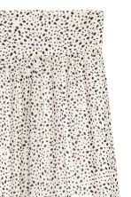 Patterned maxi skirt - Nat. white/Spotted - Ladies | H&M CN 3