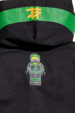 Jersey hooded top - Black/Lego -  | H&M 3