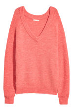 V-neck jumper - Coral red - Ladies | H&M CN 2