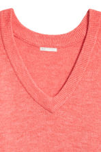 V-neck jumper - Coral red - Ladies | H&M 3