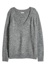 V-neck jumper - Dark grey - Ladies | H&M 2