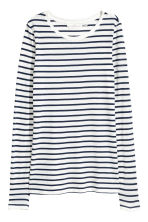 Long-sleeved top - White/Striped - Ladies | H&M 2