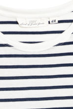 Long-sleeved top - White/Striped - Ladies | H&M 3