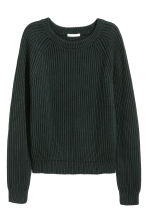 Ribbed jumper - Dark green - Ladies | H&M 2