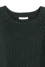 Ribbed jumper - Dark green - Ladies | H&M 3