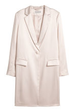 Satin coat - Light beige - Ladies | H&M 1
