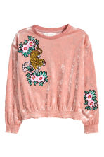 Sweatshirt with smocking - Vintage pink -  | H&M CN 2