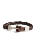 Braided bracelet - Dark brown - Men | H&M 1