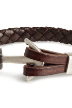 Braided bracelet - Dark brown - Men | H&M 2