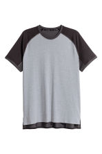 Short-sleeved sports top - Grey marl/Black - Men | H&M CN 2