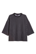 Striped T-shirt - Black/White striped - Men | H&M GB 2