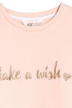 Sweatshirt dress - Powder pink -  | H&M CN 3