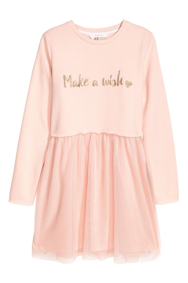 Sweatshirt dress - Powder pink - Kids | H&M IE