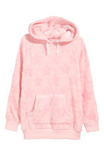 Velour hooded top - Light pink - Kids | H&M 2