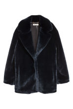 Faux fur jacket - Dark blue - Ladies | H&M CN 2