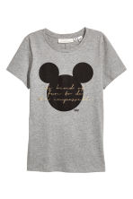 Printed top - Grey - Ladies | H&M 2
