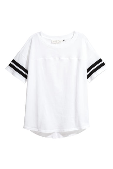 Short-sleeved Top - White - Ladies | H&M CA
