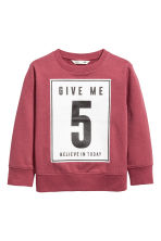 Printed sweatshirt - Burgundy - Kids | H&M 2