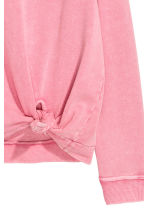 Knot-detail sweatshirt - Pink - Ladies | H&M CN 3
