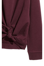 Knot-detail sweatshirt - Burgundy - Ladies | H&M 3