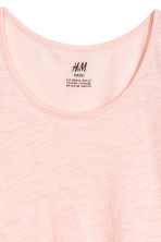 Slub jersey vest top - Light pink - Kids | H&M 2