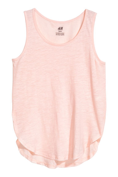 Slub jersey vest top - Light pink - Kids | H&M 1