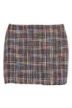 Textured skirt - Black/Multicoloured - Ladies | H&M 2