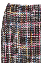 Textured skirt - Black/Multicoloured - Ladies | H&M 3