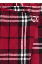 Short wrap skirt - Red/Checked - Ladies | H&M IE 3