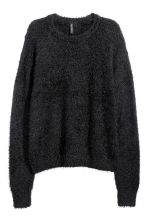 Fluffy Sweater - Black - Ladies | H&M CA