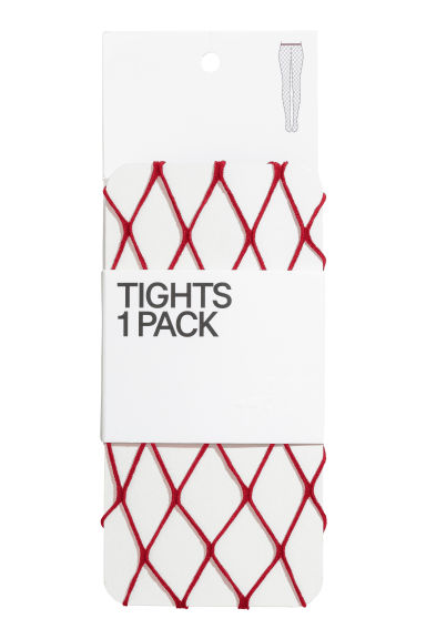 Fishnet tights - Dark red - Ladies | H&M IE 1