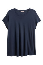 H&M+ Jersey top - Dark blue - Ladies | H&M CN 2