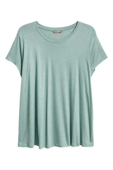 H&M+ Top in jersey - Verde nebbia - DONNA | H&M IT 1