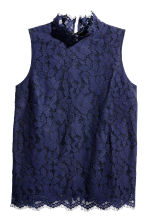 H&M+ Top smanicato in pizzo - Blu scuro - DONNA | H&M IT 2
