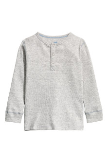 Ribbed Henley shirt