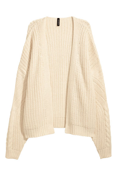 Knitted cardigan - Light beige -  | H&M CN