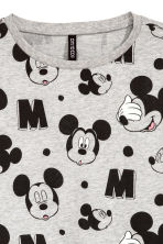 Cut-off Sweatshirt - Gray melange/Mickey Mouse - Ladies | H&M CA 3