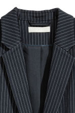 Single-breasted jacket - Dark blue/Pinstriped - Ladies | H&M CN 3