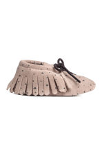 Suede Moccasins - Light taupe/stars - Kids | H&M CA 1