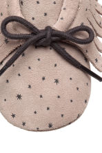 Suede Moccasins - Light taupe/stars - Kids | H&M CA 3