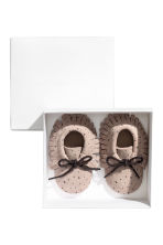 Suede Moccasins - Light taupe/stars - Kids | H&M CA 2