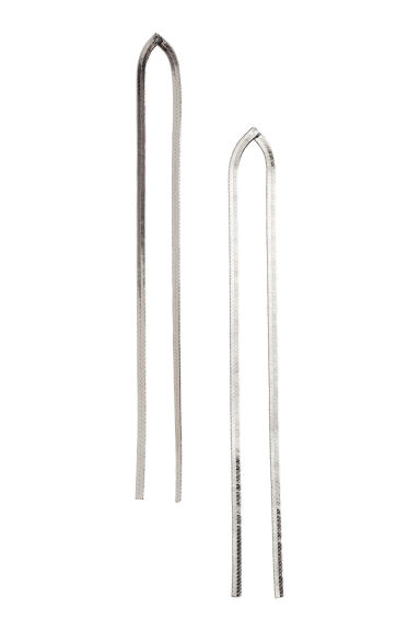 Long earrings - Silver - Ladies | H&M CN 1