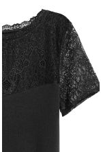Top with lace - Black - Ladies | H&M 3