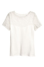 Top with lace - White - Ladies | H&M CA 2