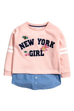 Double-layered sweatshirt - Light pink - Kids | H&M 2