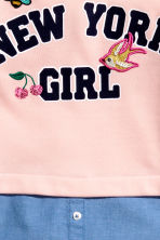 Double-layered sweatshirt - Light pink -  | H&M CA 3