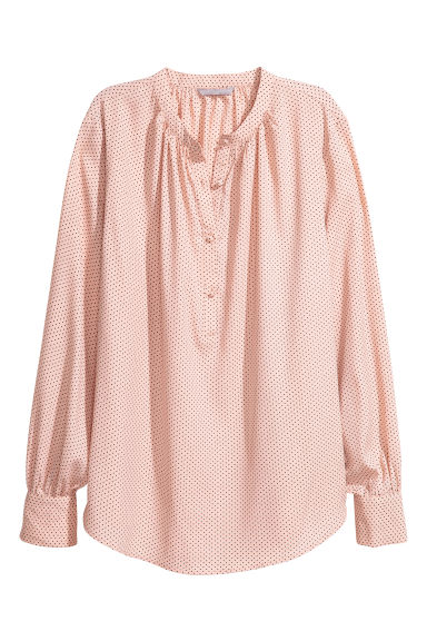 Crêpe blouse - Powder pink/Black spotted - Ladies | H&M CN